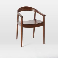 lena arm chair espresso mid century dining tabledining