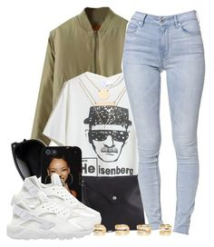 """Heisenberg's Huaraches // Beautiful Halo"" by msyorkieluver ❤ liked on Polyvore featuring Pieces, Jules Smith, Bullhead Denim Co., NIKE, Maison Margiela and bhalo"