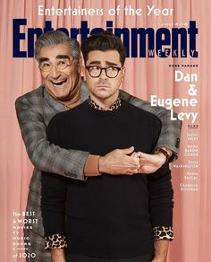 Eugene Levy, Sacha Baron Cohen, Entertainer Of The Year, Daniel Levy, Michael Trevino, Pedro Pascal, Schitts Creek, Entertainment Weekly, First Novel
