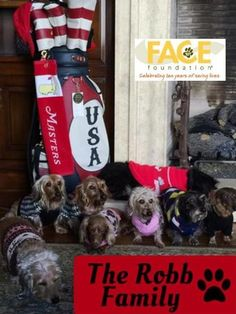 Thank you so much to The Robb Family for their wonderful support and sponsorship of our 5th Invitational Golf Tournament. Thanks again for constant help in helping FACE save the lives of beloved pets!