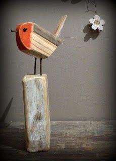 Treibholz Vogel Please visit our website for Scrap Wood Art, Wooden Art, Wooden Crafts, Driftwood Projects, Driftwood Art, Wood Animal, Wood Bird, Bird Crafts, Junk Art