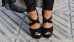 <3 Strappy black heels