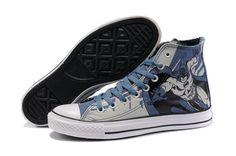 Converse Batman Shoes Blue Grey