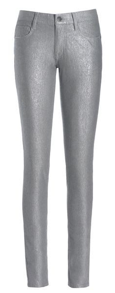 French Connection metallic skinny jean