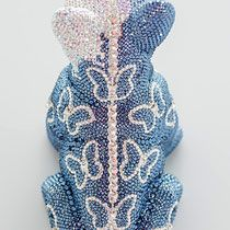 French Bruno by J. Swarovski, French Bulldog, Dinosaur Stuffed Animal, Butterfly, Bling, Sculpture, Crystals, Art, Art Sculptures