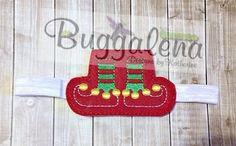Elf Shoes BuggaBand Headband Slider Embroidery Design by Buggalena