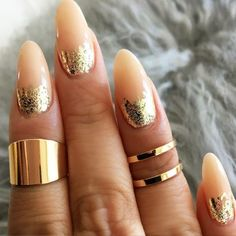 Stunning Gold Foil Nail Designs to Make Your Manicure Shine ★ See more: http://glaminati.com/gold-foil/