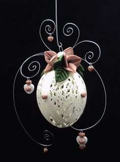 Egg Crafts, Easter Crafts, Diy And Crafts, Dremel Carving, Carved Eggs, Baubles And Beads, Polymer Clay Flowers, Egg Art, Egg Decorating