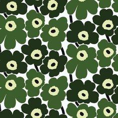 Marimekko Pieni Unikko x Floral Wallpaper Color: Green / White Wallpaper Color, Marimekko Wallpaper, Toile Wallpaper, Botanical Wallpaper, Geometric Wallpaper, Iphone Wallpaper, Marimekko Fabric, Bathroom Wallpaper, Vintage Floral Wallpapers