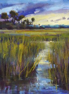 Listen to the Marsh Music  Pastel on Uart 600 by Karen Margulis. Sold