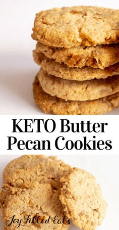 These Butter Pecan Cookies live up to their name. They are buttery & chock full of pecans. They are crisp, sweet, & are the perfect sweet bite after supper. Best Low Carb Recipes, Keto Recipes, Cooking Recipes, Favorite Recipes, Healthy Recipes, Steak Recipes, Muffin Recipes, Recipes Dinner, Chicken Recipes