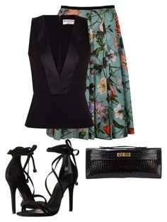 """Untitled #3510"" by rkdk1101 ❤ liked on Polyvore featuring Gucci, Schutz, Hermès and Balenciaga"
