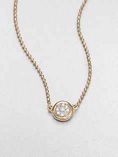 Phillips House 14K Gold & Diamond Delicate Pendant Necklace...i want
