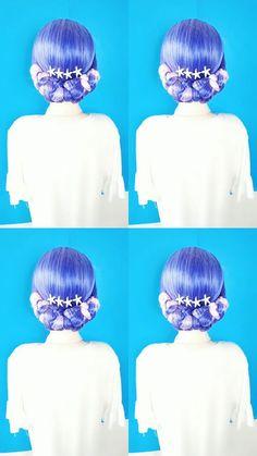 Cute Hairstyles For Medium Hair, Kawaii Hairstyles, Bride Hairstyles, Long Hair Tips, Braids For Long Hair, Hair Up Styles, Hair Styler, Hair Videos, Hair Hacks