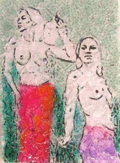 "Saatchi Art Artist Raquel Sarangello; Drawing, ""AMAZONE"" #art"