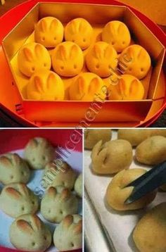 Semplicemente Chic: Biscotti di pan brioche a forma di coniglio!