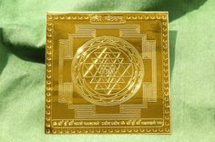 Gold Sri Yantra with Superfine Etching - Project Yourself