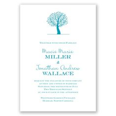 Harmony - Malibu - Invitation | Invitations By David's Bridal