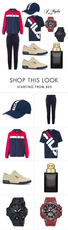 """""""FILA LIFE"""" by jmylesimage on Polyvore featuring Fila, Gucci, G-Shock, men's fashion and menswear"""