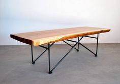 Coffee Table:Bench 01 - Metal Base