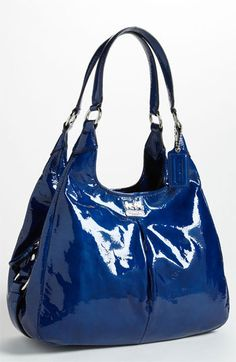 COACH 'Madison - Maggie' Patent Leather Hobo available at #Nordstrom