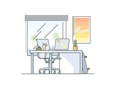 Miami Desk by Gustavo Zambelli #Design Popular #Dribbble #shots