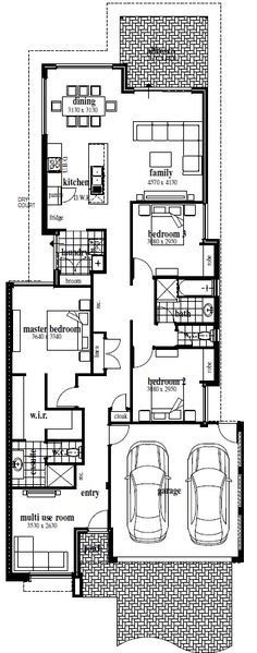 1000 Images About Narrow Block Plans On Pinterest Case