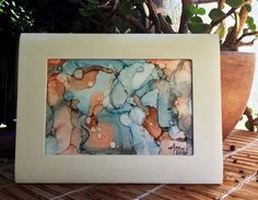 Alcohol ink art  small abstract painting  by TheSmallestThought