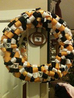 Very Cute 13 inch ribbon West Virginia Ribbon Wreath!!