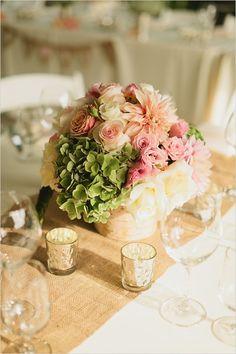 floral table arrangement by Bella Signature Design