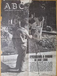 PINTORA  OLGA PANIAGUA: Portada de ABC,  18 de Junio de 1978