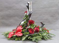 Church Flowers, Funeral Flowers, Wedding Flowers, Grave Decorations, Christmas Decorations, Modern Flower Arrangements, Amazing Flowers, Altar, Flower Designs