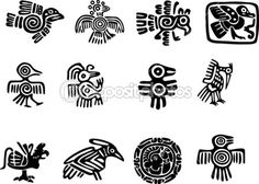 Mexican and maya glyph — Stock Illustration #11037348