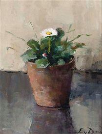 Lucie van Dam van Isselt, still life with daisy