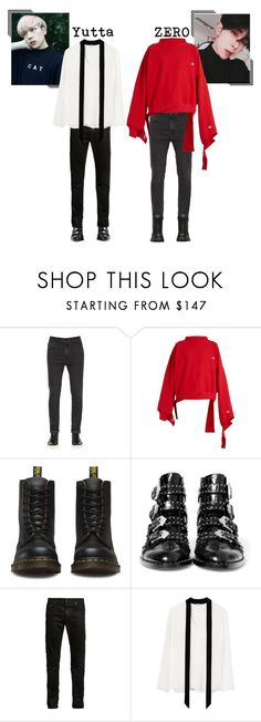"""""""Yutta and ZERO    Taemin - Flame of Love (Cover)"""" by onyxofficial ❤ liked on Polyvore featuring Calvin Klein Jeans, Vetements, Dr. Martens, Givenchy and Yves Saint Laurent"""