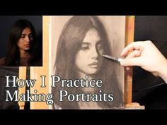 In this quick little charcoal drawing video I wish to share with you one particular way that I use to practice creating portraits. The goal is to be quick, d. Drawing Now, Female Drawing, How To Make Drawing, Figure Drawing, Painting & Drawing, Charcoal Drawing Tutorial, Charcoal Portraits, Drawing Techniques, Drawing Tutorials