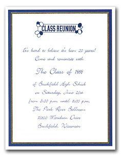 28 Best Reunion Invitations Images Class Reunion Ideas High