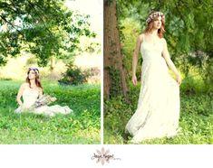 Goddess Headdress Flower hair wreath bridal by AmoreBride on Etsy