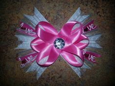 Pink&White Love Bow