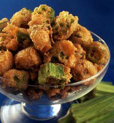 Fried Okra With Crispy Parmesan Coating
