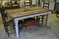 Great farm house table! This is the table I want!