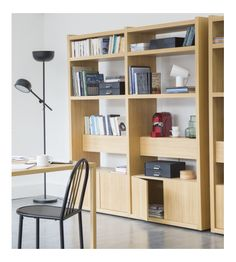 Genna - Librería grande de roble - Habitat