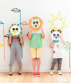 These D.I.Y. Paper-Plate Masks Will Make Your Kids' Next Party