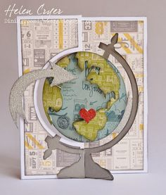 The Dining Room Drawers: Valentines Cards (With Sizzix Flip-its, Tim Holtz & Papertrey Ink); Feb 2015
