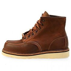 "Red Wing Heritage 6"" Moc Toe Boot Mens 1907 Copper Leather Boots Shoes Size 10.5"