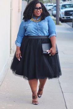 Plus Size Clothing for Women - Society+ Premium Tutu - Black (Sizes 1X - 6X) - Society+ - Society Plus - Buy Online Now!