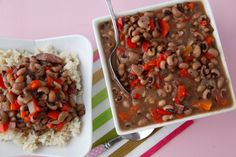 Slow Cooker Black Eyed Peas are an easy way to make a healthy dish for a crowd.