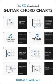 The Master Guitar Chords Chart Collection Learn Guitar Chords, Guitar Chords Beginner, Guitar Chord Chart, Guitar Songs, Teaching Channel, Guitar Lessons For Beginners, Music Machine, Dramatic Play Centers, Singing Tips