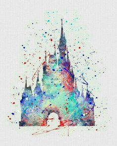 The perfect Walt Disney Castle! Disney Magic, Disney Pixar, Walt Disney, Disney E Dreamworks, Disney Diy, Cute Disney, Disney Movies, Disney Stuff, Watercolor Disney