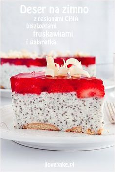 deser z nasionami chia Fruit Recipes, Baby Food Recipes, Sweet Recipes, Cake Recipes, Dessert Recipes, Cooking Recipes, Polish Desserts, Cookie Desserts, Sweets Cake